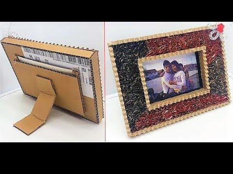 how to make a cardboard photo frame diy - Diy Cardboard Picture Frame