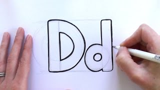How to Draw a Cartoon Letter D and d