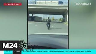 Лихач на самокате разогнался на дороге до 50 км/ч - Москва 24