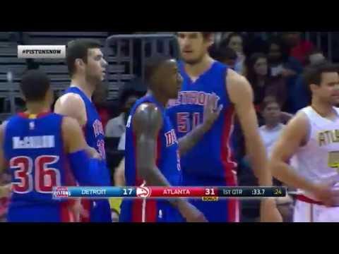 Marjanovic amazing assist for Caldwell-Pope - Atlanta Hawks vs. Detroit Pistons - NBA 13/10/2015