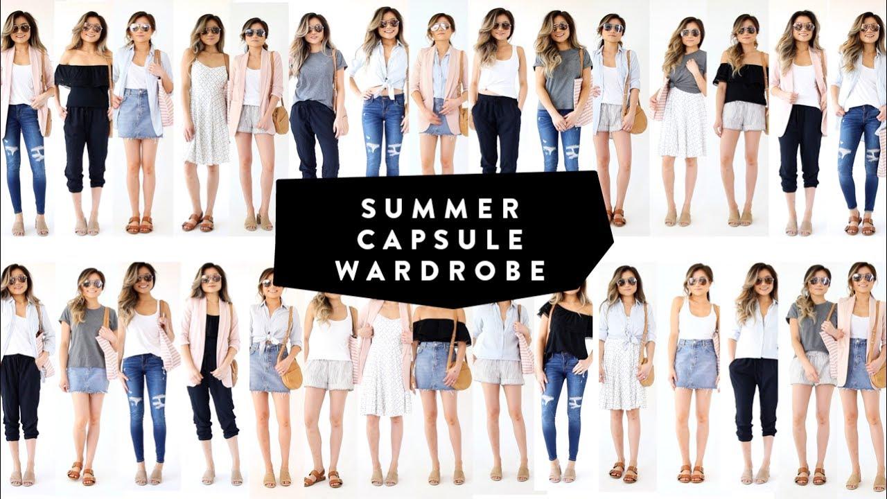 12 Pieces 30 Looks 2017 Summer Capsule Wardrobe