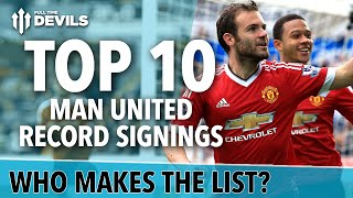 Records SMASHED! Top 10 Manchester United Transfers | Veron, Mata, Ferdinand and More!