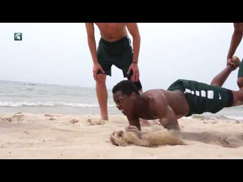 Michigan State Basketball Beach Workout