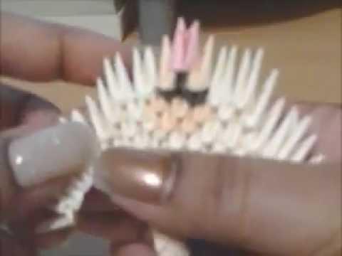 3D origami cat tutorial