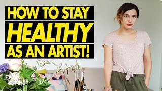 HOW TO STAY HEALTHY AS AN ARTIST! + Watercolor Timelapse