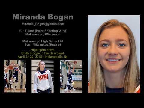 Miranda Bogan   Girls Basketball Recruiting Video   Indy 2018 Highlights   Mukwonago High School   1