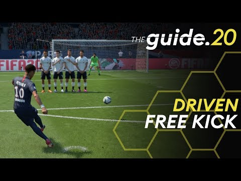 DRIVEN FREE KICK TUTORIAL | Score Easy Goals With Free Kicks In FIFA 20
