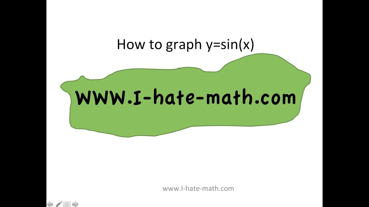 How to Graph y=Sin(x) the Sine function in 5 minutes - YouTube