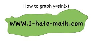 How to Graph  y=Sin(x)  the Sine function in 5 minutes