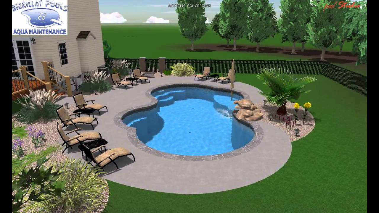 Pool studio 3d swimming pool design buchanan 2012 youtube for Pool studio 3d design