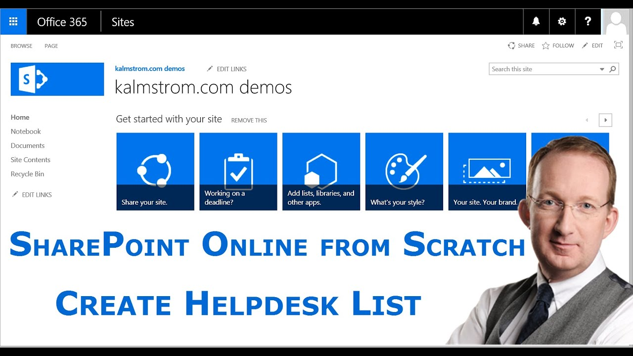 Create a SharePoint Helpdesk List - YouTube