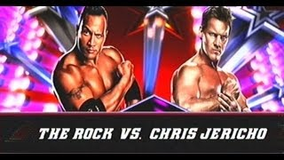 WWE 13 The Rock vs Chris Jericho with Finishers and Signatures
