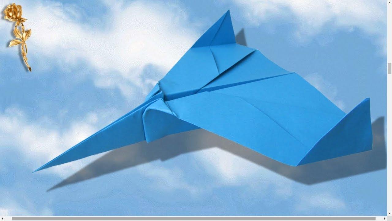 origami avion qui vole tr s bien tr s vite et tr s loin youtube. Black Bedroom Furniture Sets. Home Design Ideas