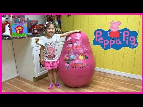 [SurpriseEggToys] GIANT PEPPA PIG SURPRISE EGG TOYS Biggest Toy Eggs Surprises TreeHouse George Dad