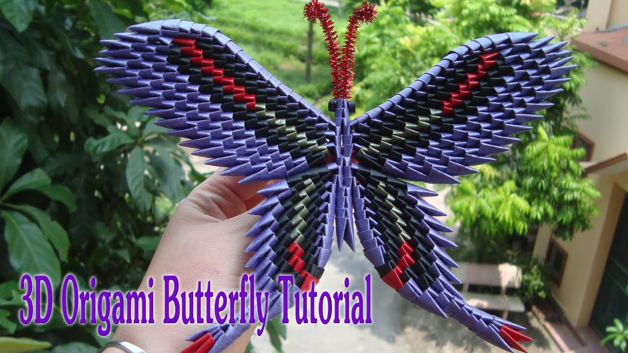HOW TO MAKE 3D ORIGAMI BUTTERFLY