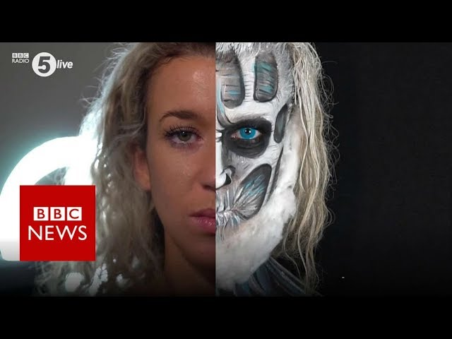 'How Halloween make-up looks helped my depression' - BBC News