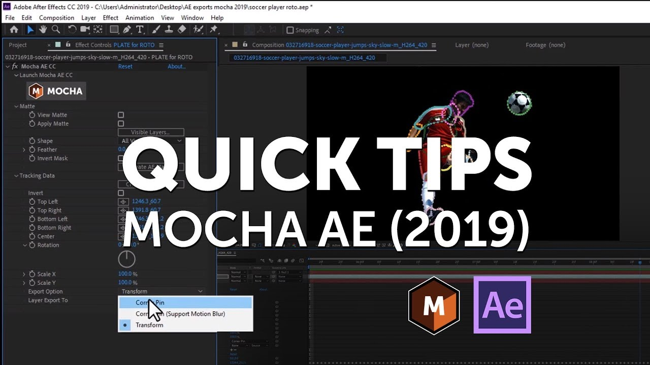 Mocha AE 2019 Export Workflow for Adobe After Effects - Toolfarm