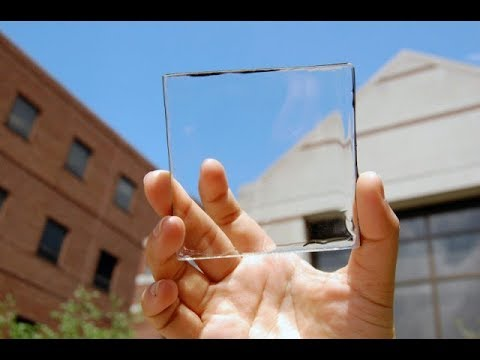 Generating power from everyday surfaces -Transparent solar cells