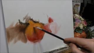 Pomegranates & Flowers. Oil Painting. Part 1.