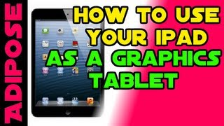 How to use an iPad as a graphics Tablet for your PC - Works for Android too!