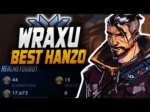 Wraxu Best Hanzo in The WORLD! 44 ELIMS! [ OVERWATCH SEASON 14 TOP 500 ] thumbnail