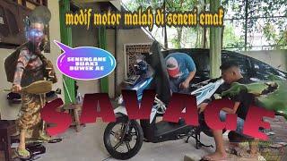 Modif motor dimarahi emak - modifikasi motovlog