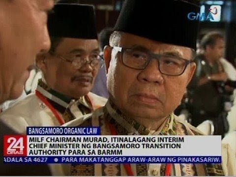 Murad, itinalagang Interim Chief Minister ng Bangsamoro Transition Authority para sa BARMM