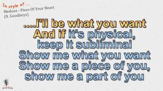 Baixar Meduza -  Piece Of Your Heart (ft.  Goodboys) - Instrumental and Karaoke by rolf rattay