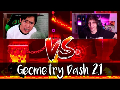 Thumbnail: GEOMETRY DASH 2.1🔥FERNANFLOO VS ELRUBIUS VS GERMAN🔥EN GEOMETRY DASH 2.1 DUELO ÉPICO