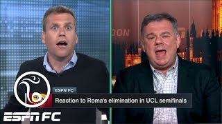 ESPN FC crew gets heated over Roma-Liverpool Champions League refereeing controversy | ESPN FC