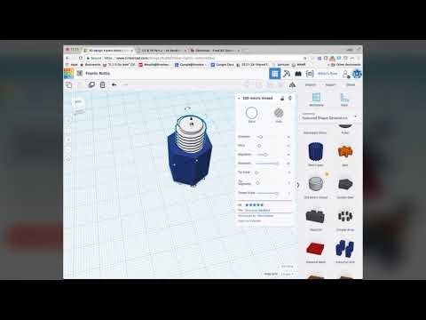 How to make a nut & bolt  in Tinkercad