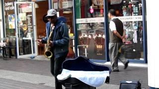 James Brown - I Feel Good on saxophone
