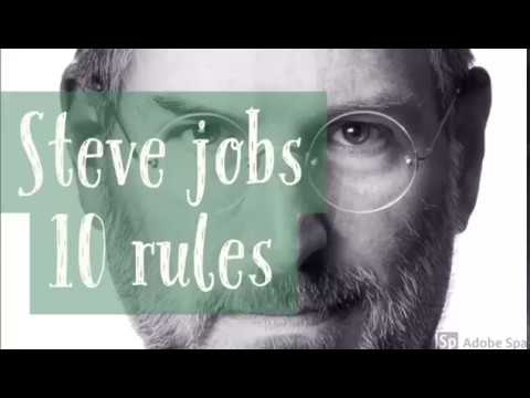 Steve Jobs top 10 rules of success