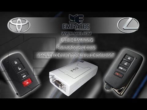 How to program Toyota & Lexus smart keys H type All keys lost via Mk3