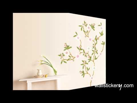 blossom flowers tree wall stickers for living rooms at wallstickery.com