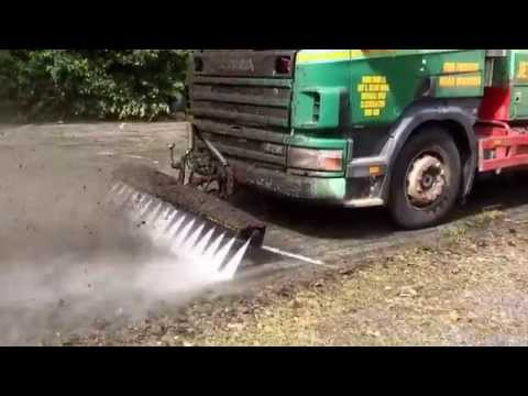 Road Jetter high pressure cleaning thick moss