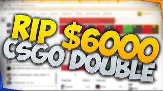 $6000 Bet on CSGO Double! Using the Martingale Method