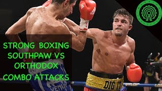 Boxing Southpaw against Orthodox Strong Combination Attacks Tutorial