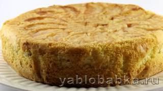 Шарлотка с яблоками - рецепт простой и вкусный от Яблобабки