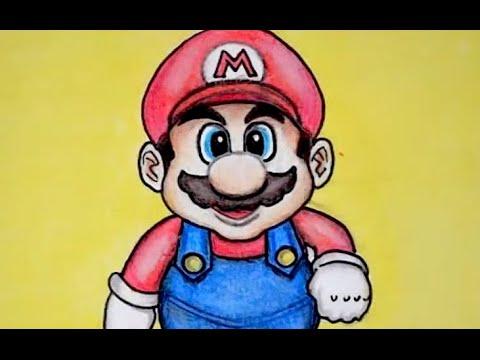 Como Dibujar A Mario Bros Tutorial Youtube