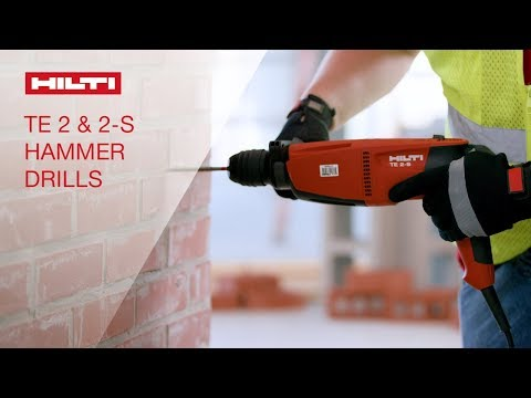 OVERVIEW of Hilti's TE 2 and TE 2-S corded SDS plus rotary hammers