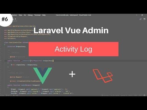 Activity Feed using Laravel Activity Log #Laravel Vue Admin thumbnail