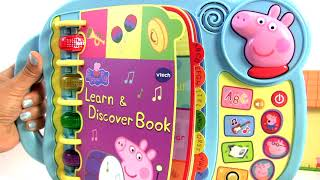 Peppa Pig Learn & discover Book + Secret surprise cube + mini camper toy surprise