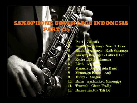 Saxophone Cover 20 Lagu Indonesia Part (3) - Musik Santai -