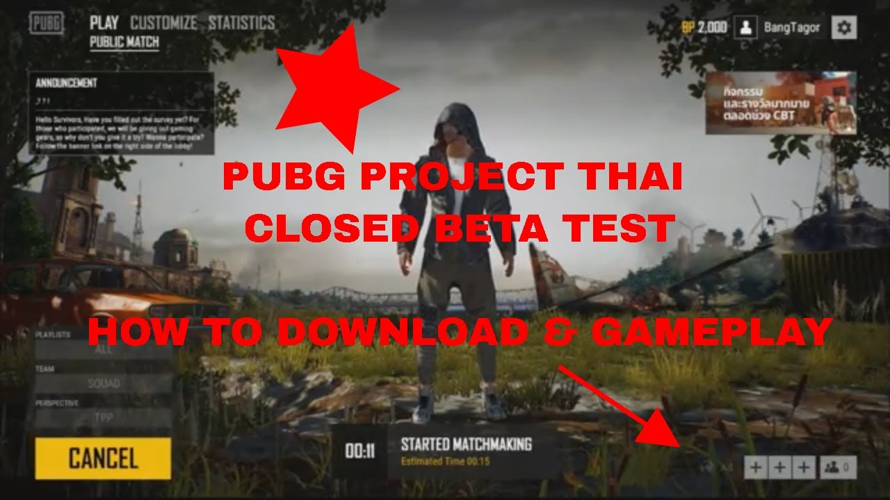 Pubg Song Hd Video Download: PUBG PROJECT THAI CLOSED BETA TEST : How To Download And