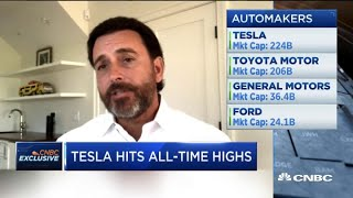 Former Ford CEO explains why Tesla's stock is growing