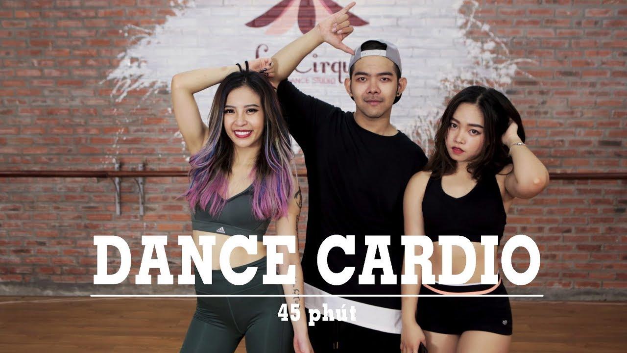 DANCE CARDIO #1 | 45 phút giảm mỡ hiệu quả (600 calories, all level) | Hana Giang Anh | Workout #76