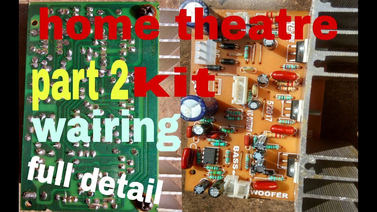 2030 Ic Board And Home Theatre Audio Wairing 100 Working Youtube Tda2030 Amplifier Circuit Diagram