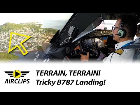 World's MOST CHALLENGING B787 Landing, Air Austral ULTIMATE COCKPIT MOVIE To Mayotte! [AirClips]