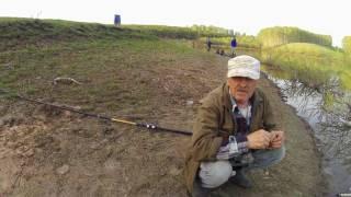 Рыбалка на пруду//Ротан//Карасик